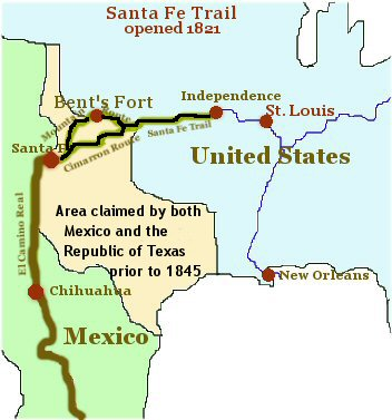 Back To Santa Fe Trail Map Back To History Article List